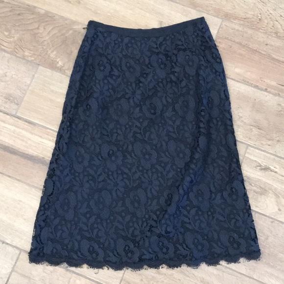 Ann Taylor Dresses & Skirts - Excellent condition black lace skirt size 0